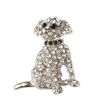 Rhinestone Dog Brooch For Women pins Cute