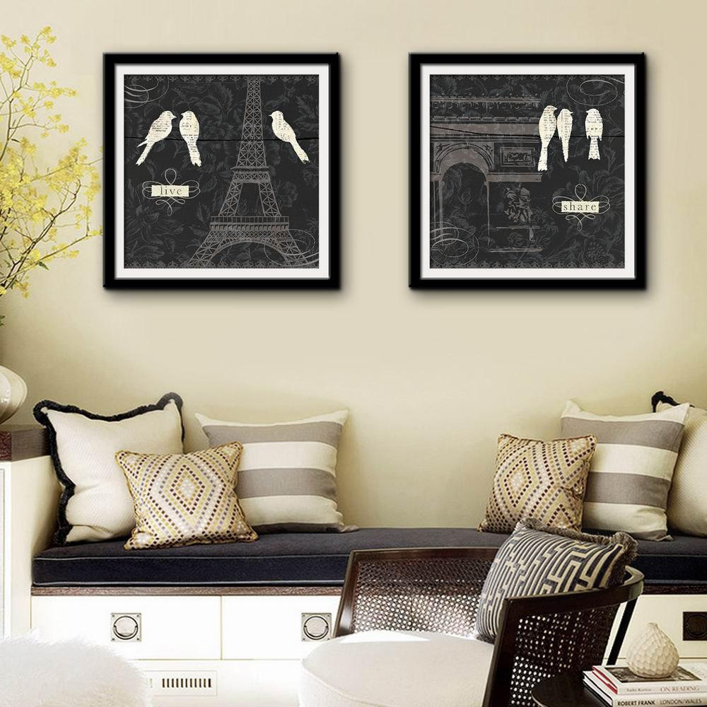 2017 Special Design Frame Paintings Arc DE Triomphe Print 2PCS ...