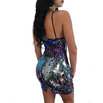 European and American Sexy Suspenders Club Evening Dress - DAZZLING L