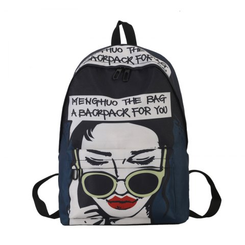 Fashion Printing Character School Bag for Women - STYLE A