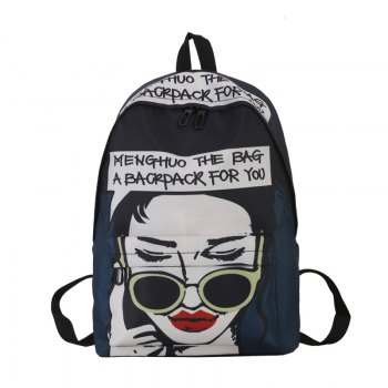 Fashion Printing Character School Bag for Women