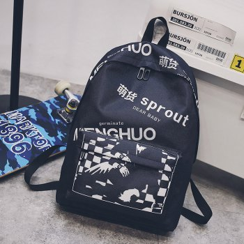 Fashion Printing Character School Bag for Women - STYLE B