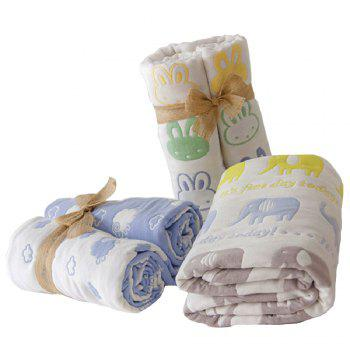 Baby Cartoon Breathable Cotton Yarn Blanket - YELLOW ONE SIZE