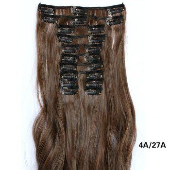 12 pcs/Set Hair Extensions Women Fashion Long Curly Pattern Chemical Fiber Stylish Wigs - BROWNIE