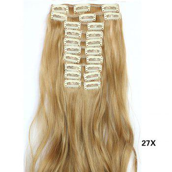 12 pcs/Set Hair Extensions Women Fashion Long Curly Pattern Chemical Fiber Stylish Wigs - VENETIAN GOLD