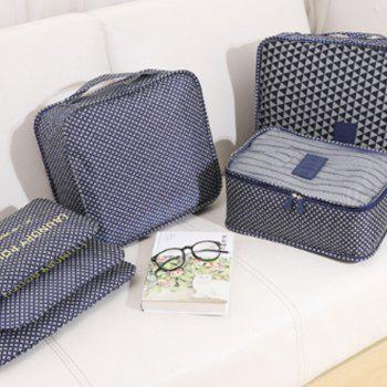 Travel Print Six Packages of Clothing Packing Bags - DEEP BLUE