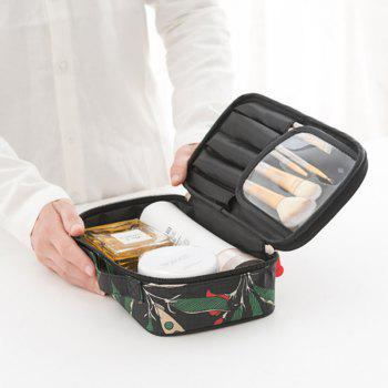 Carry Cosmetic Bag Large Capacity Wash Bag Travel Cosmetic Bag - BLACK