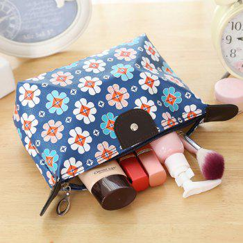 Large capacity dumpling makeup bag waterproof small object washing and folding travel pack - BLUE