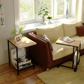 Nesting Table Set with Wheels Sofa Side Table - YELLOW