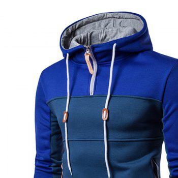 Sweat à capuche Color Leisure Homme - Bleu L