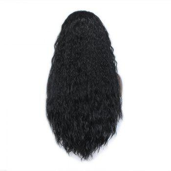 European and American foreign trade long hair, fashionable, realistic natural color, front lace chemical fiber wig LC -1 - BLACK 28INCH