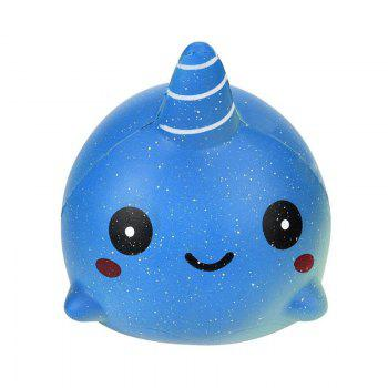 Exquisite Fun Big Whale Scented Squishy Charm Slow Rising 12cm Simulation Vent Hand Toy Decompression Educational Toy - COLOUR