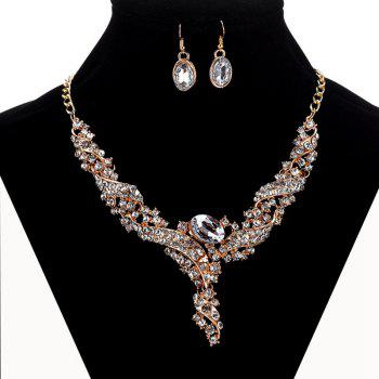 Women Luxury Diamond Jewelry Set Metal Necklace