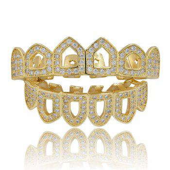 Hip Hop 18K Gold Plated Hollow Micro