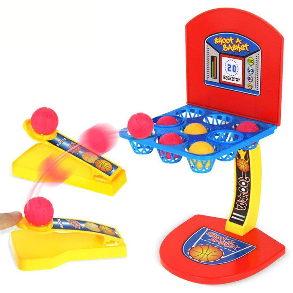 Funny Toy for Kids Desktop Ejection Basketball Mini Football Hockey Golf Shooting Finger Game simulation mini golf course display toy set with golf club ball flag