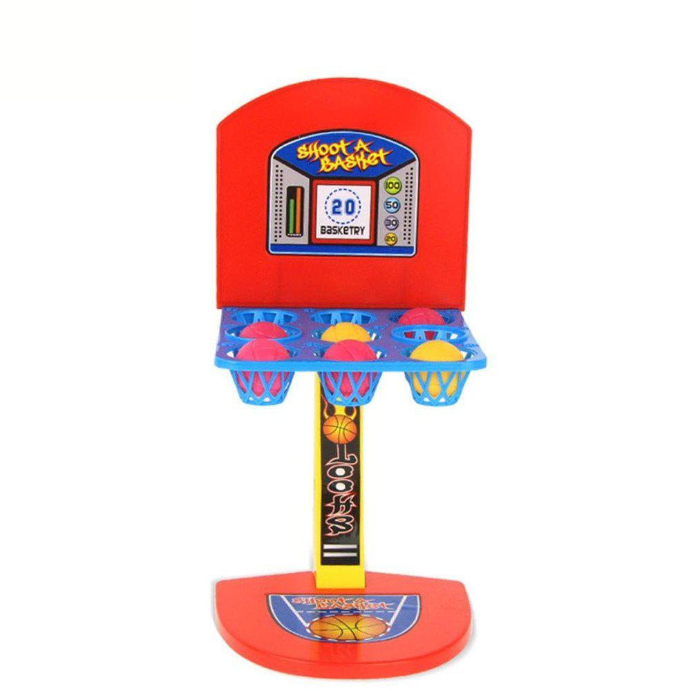 Funny Toy for Kids Desktop Ejection Basketball Mini Football Hockey Golf Shooting Finger Game - COLOUR