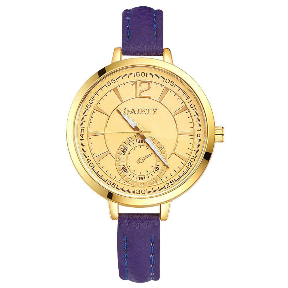 GAIETY G324 Women Fashion Leather Watch - PURPLE