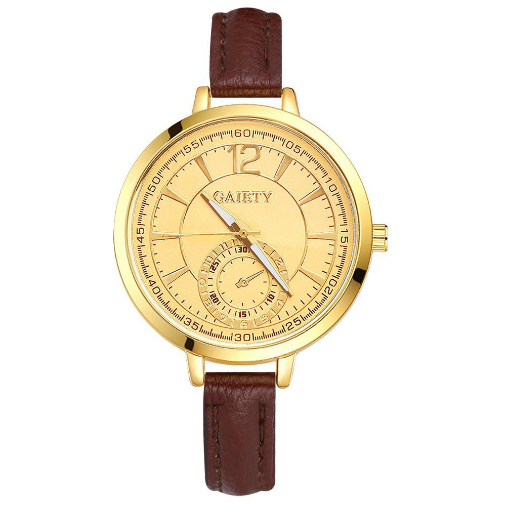 GAIETY G324 Women Fashion Leather Watch - BROWN