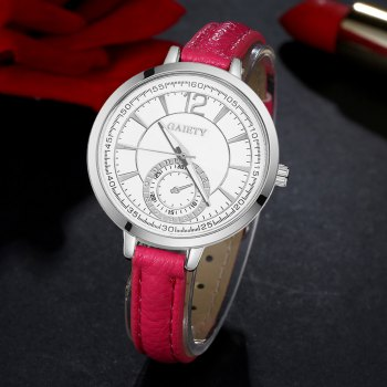 GAIETY G326 Women Leather Watch - ROSE RED