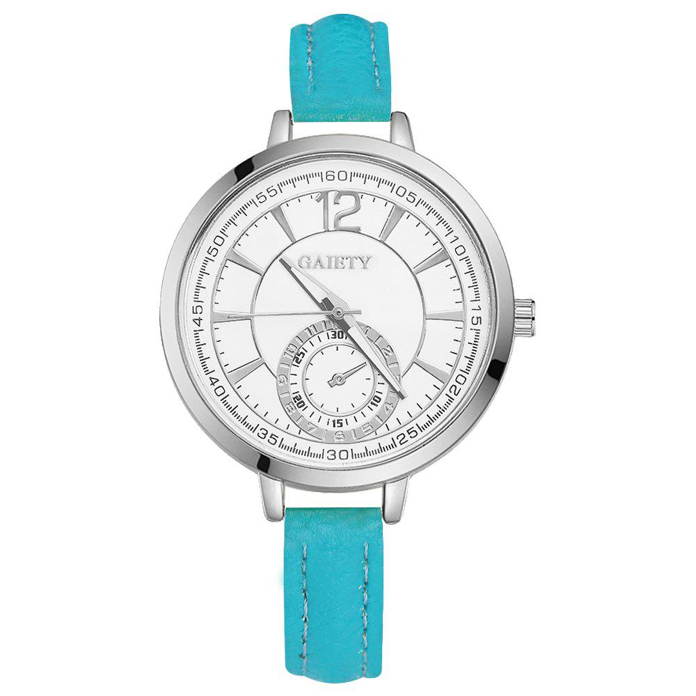 GAIETY G326 Women Leather Watch - SKYBLUE