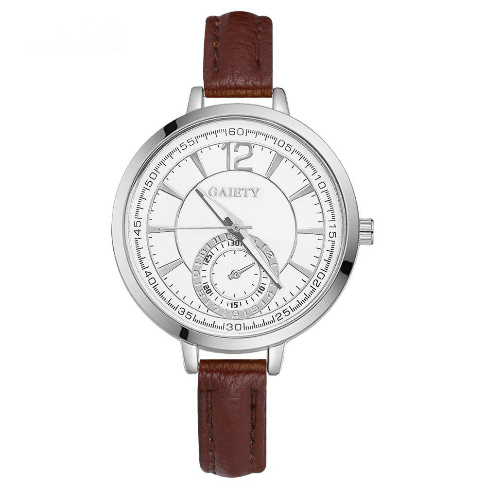 GAIETY G326 Women Leather Watch - BROWN