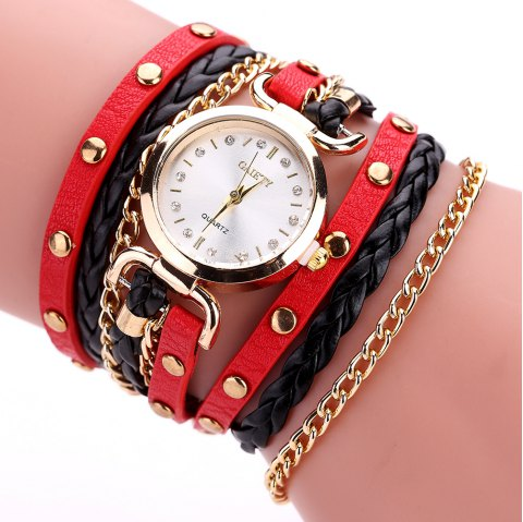 8688a2aecb51 LIMITED OFFER  2019 GAIETY G368 Women Watch Wrap Around Leather Band ...