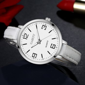 GAIETY G362 Women Watch Small Leather Band Fashion Watches - WHITE