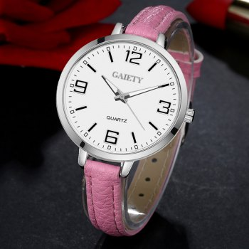 GAIETY G362 Women Watch Small Leather Band Fashion Watches - PINK