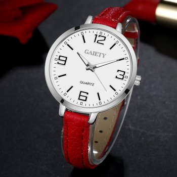 GAIETY G362 Women Watch Small Leather Band Fashion Watches - RED