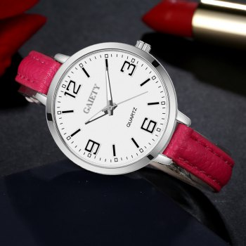GAIETY G362 Women Watch Small Leather Band Fashion Watches - ROSE RED