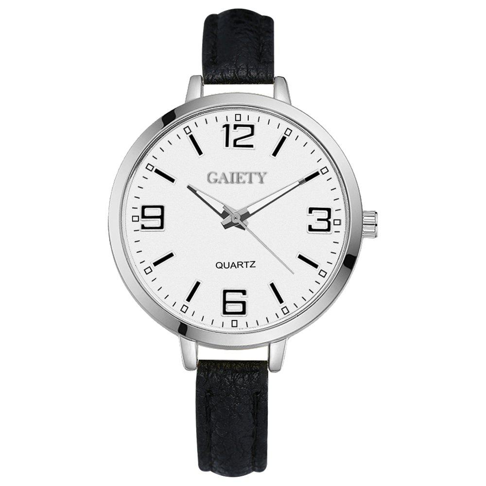 GAIETY G362 Women Watch Small Leather Band Fashion Watches - BLACK