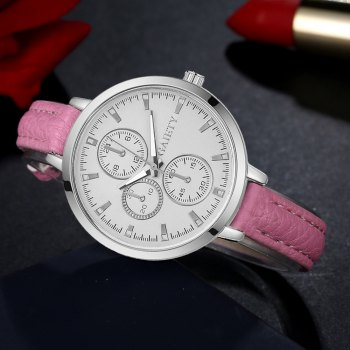 GAIETY G329 Women Leather Watch - PINK