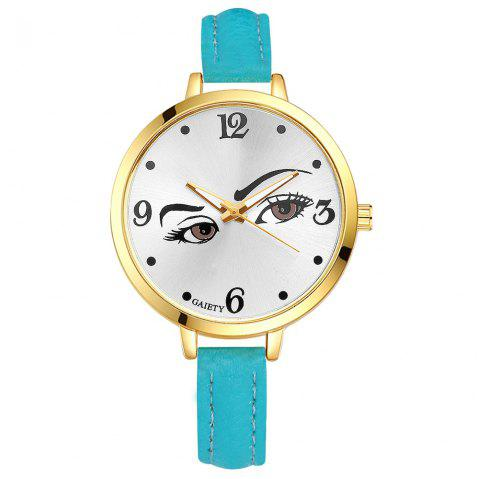 GAIETY G330 Women Leather Fashion Watch - SKYBLUE