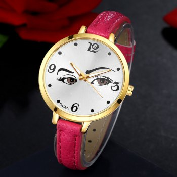 GAIETY G330 Women Leather Fashion Watch - ROSE RED