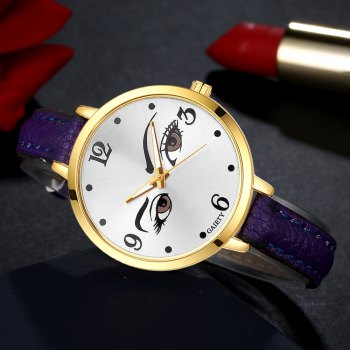 GAIETY G330 Women Leather Fashion Watch - PURPLE