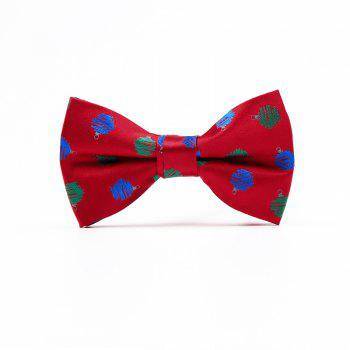 Christmas Man Polyester Jacquard Bow - RED WAVE POINT RED WAVE POINT