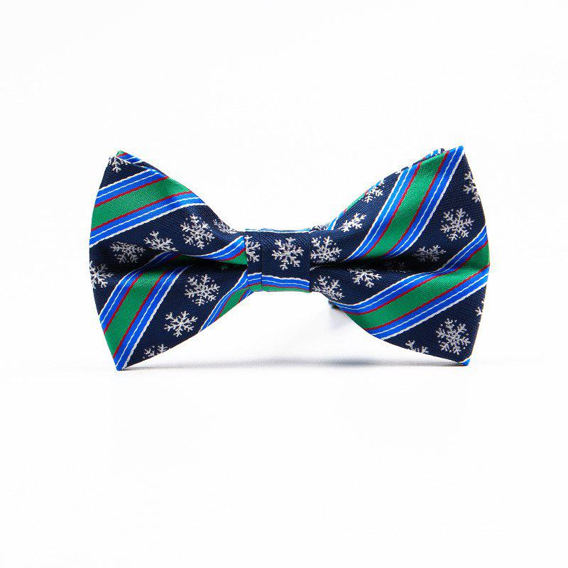 Christmas Man Polyester Jacquard Bow - BLUEBELL