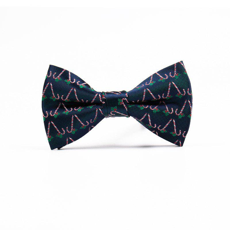 Christmas Man Polyester Jacquard Bow - BLACKISH GREEN