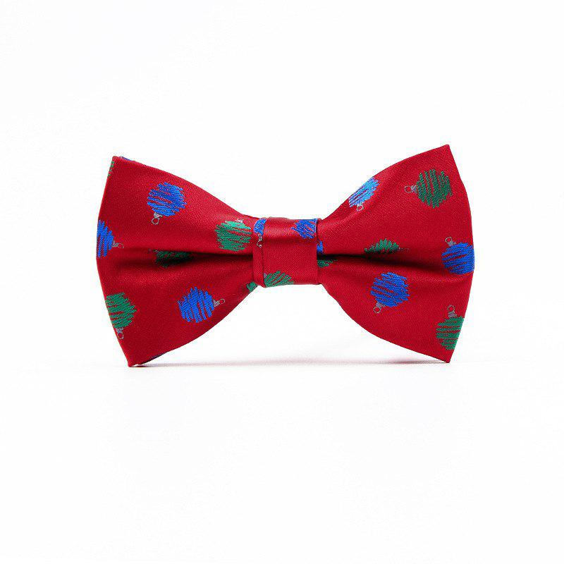 Christmas Man Polyester Jacquard Bow - RED WAVE POINT
