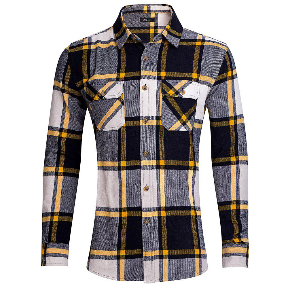 Autumn Men Casual Shirts Stripe Cotton Long Sleeve Shirts