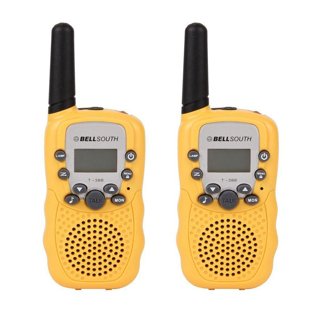2PCS T-388 Children Walkie Talkie Kids Radio Toys Walkie Talkie Two Way Radio For Children Gift 2pcs mini walkie talkie uhf interphone transceiver for kids use two way portable radio handled intercom free shipping