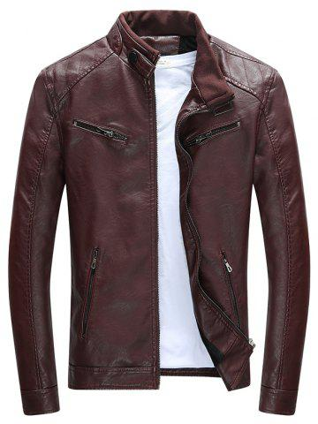 2018 Long Red Leather Jacket Online Store. Best Long Red Leather ...