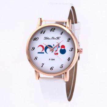 ZhouLianFa New Outdoor Fashion High-End Rose Gold Watch Crocodile Pattern Olympic Quartz Watch - WHITE WHITE