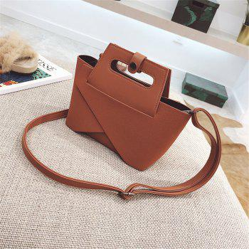 Small Bag 2017 New Winter Bag Korean Fashion All-Match Stitching Shoulder Bag - BROWN