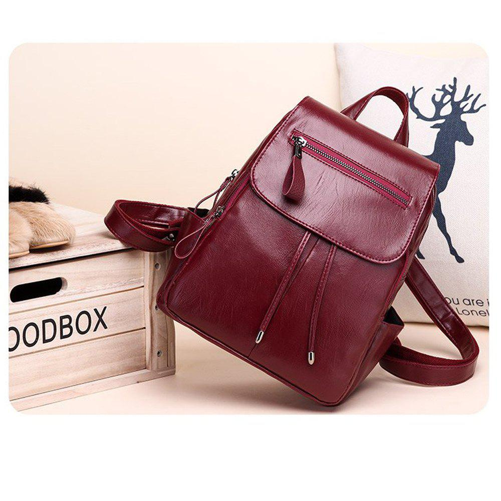 5f17954d305c Fashion Women Backpack High Quality PU Leather Backpack Shoulder School Bags  For Teenage Girls - RED