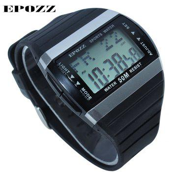 EPOZZ 1301 Dual Display Watch 50M Waterproof Alarm Clock LED Men Watch - WHITE