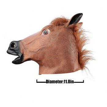 Party Latex Animal Horse Head Mask Fantastic Whimsey Costume Party Decoration - AS THE PICTURE HORSE HEAD