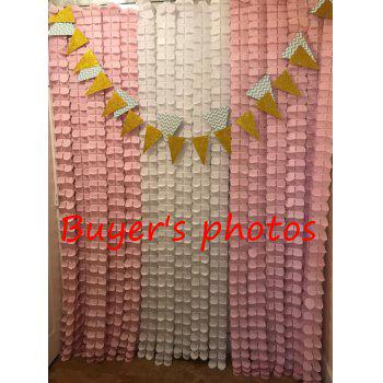 EASTERN HOPE 11.81 Feet/3.6M Hanging Garland Four-Leaf Tissue Paper Flower Garland Reusable Party Streamers for Party Wedding Decorations - AS THE PICTURE 1