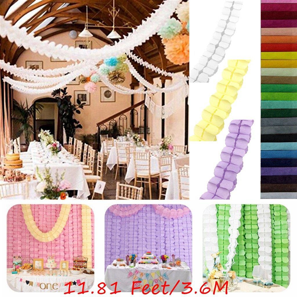 EASTERN HOPE 11.81 Feet/3.6M Hanging Garland Four-Leaf Tissue Paper Flower Garland Reusable Party Streamers for Party Wedding Decorations - AS THE PICTURE 7