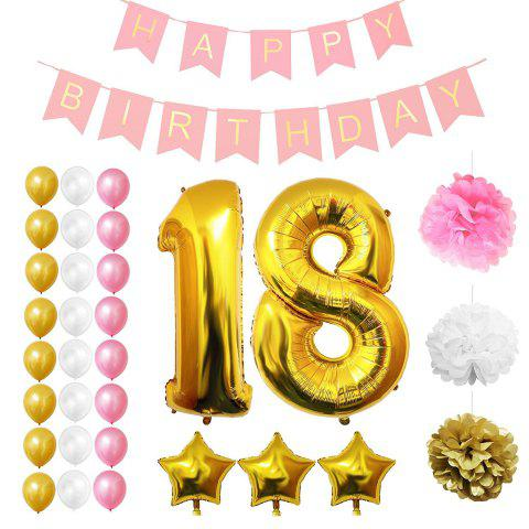 18th Happy Birthday Party Balloons Supplies Decorations Large 18 Years Foil Balloon